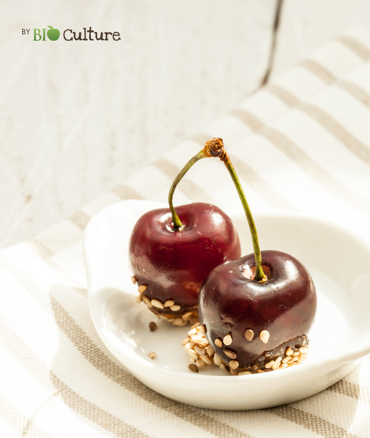 Cerises façon pomme d'amour
