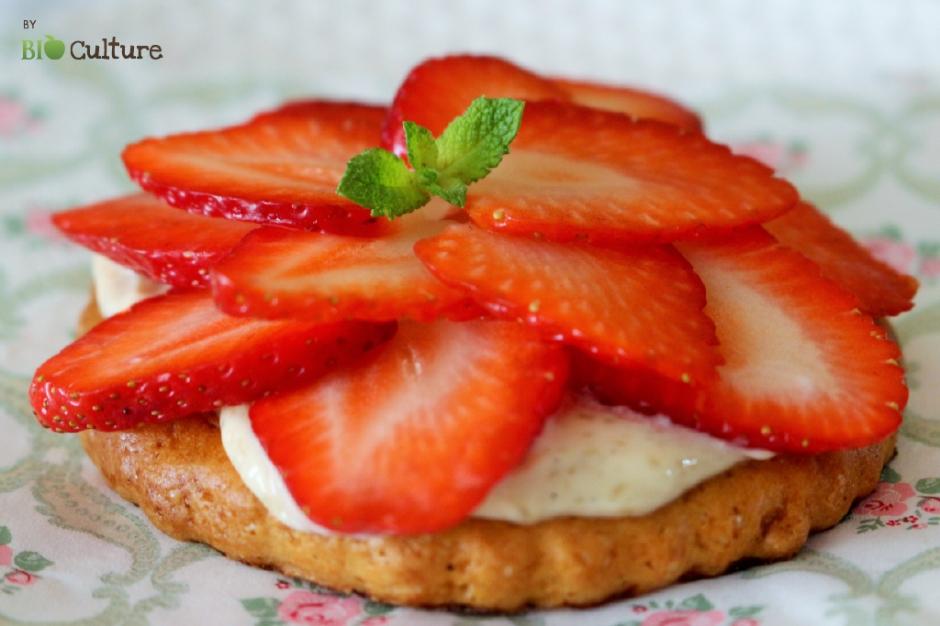 Tartelettes express aux fraises par Bio Culture