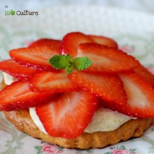 Tartelettes à la fraise par Bio Culture
