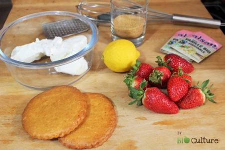 Tartelette aux fraises par Bio Culture